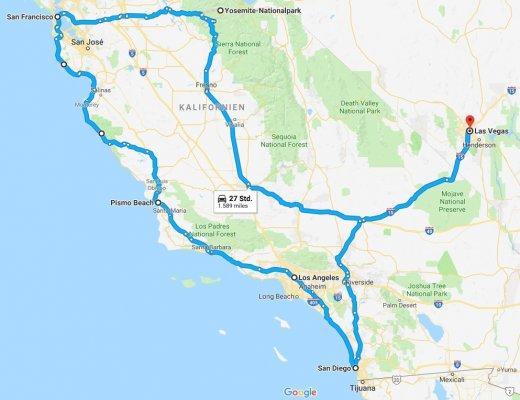 Road Trip Westküste USA 1